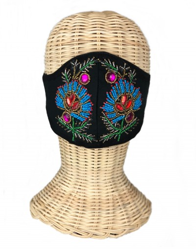 Black Embroidered Mask (Sold out)