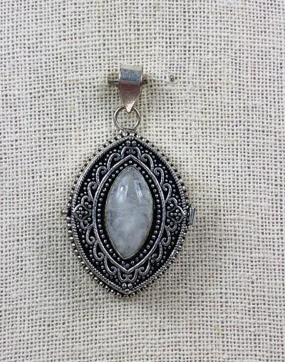 Moon Stone Secret Keeper Pendant