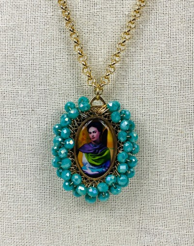 Frida Kahlo Medallion