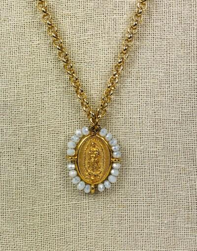 Virgen de Guadalupe and San Judas Tadeo Medallion