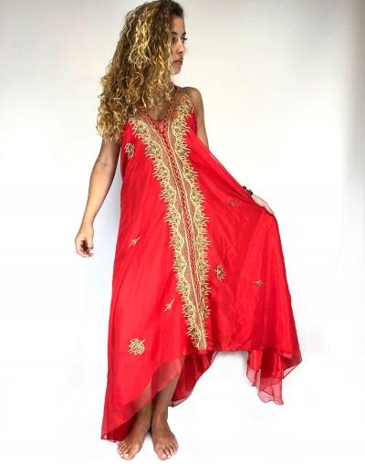 Red Saree Dress