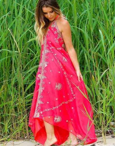 Red Saree Dress (Sold out)
