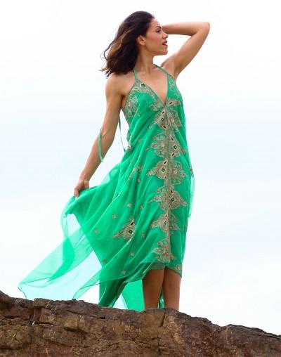 Turquoise Saree Dress