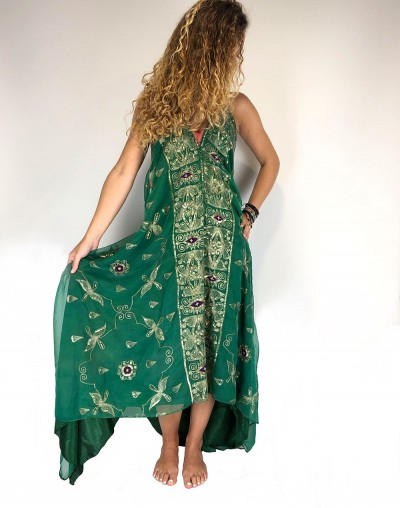 Green Saree Dress (Sold out)